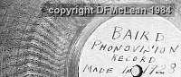 Phonovision disc label 2